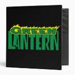 """Logotipo verde de la linterna - llamas amarillas carpeta 1 1/2"""""""