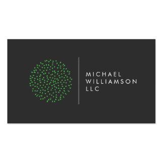 Logotipo verde de los puntos modernos tarjetas de visita