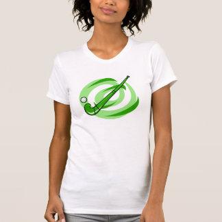 Logotipo verde del hockey hierba playera