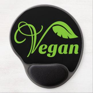 Logotipo verde del vegano alfombrilla de raton con gel