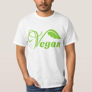 Logotipo verde del vegano playera