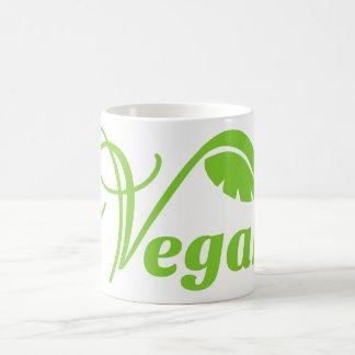 Logotipo verde del vegano taza básica blanca