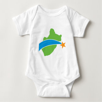 Logotipo verde simple del puente de peaje del lago body para bebé