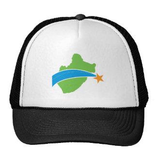 Logotipo verde simple del puente de peaje del lago gorra