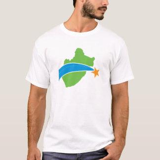 Logotipo verde simple del puente de peaje del lago playera