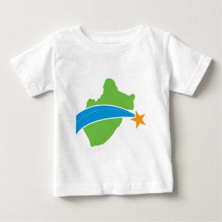 Logotipo verde simple del puente de peaje del lago playera de bebé