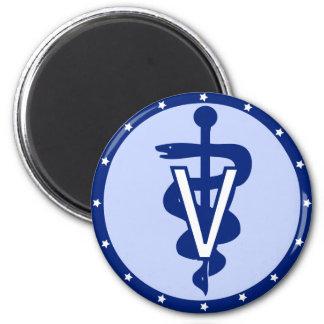 logotipo veterinario 2 iman para frigorífico
