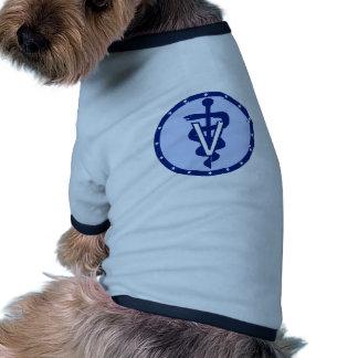 logotipo veterinario 2 camisetas de perro