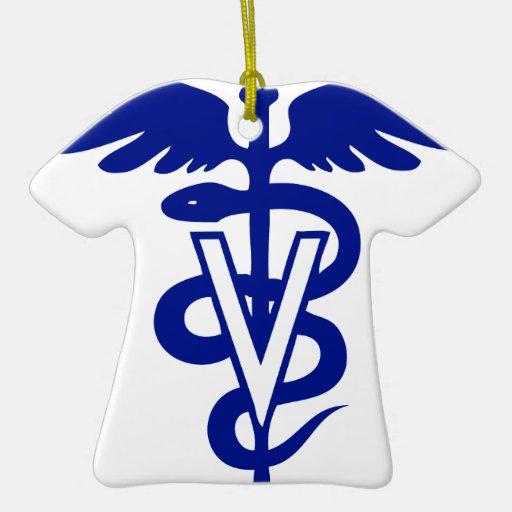 logotipo veterinario 4 adorno de cerámica en forma de playera