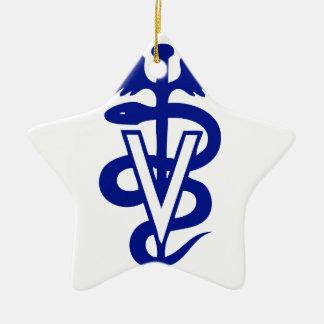 logotipo veterinario 4 adorno de cerámica en forma de estrella