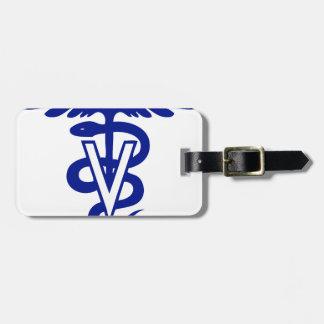 logotipo veterinario 4 etiquetas de maletas
