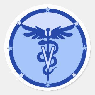 logotipo veterinario 4a pegatina redonda