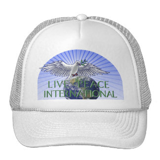 Logotipo vivo del International de la paz Gorras De Camionero