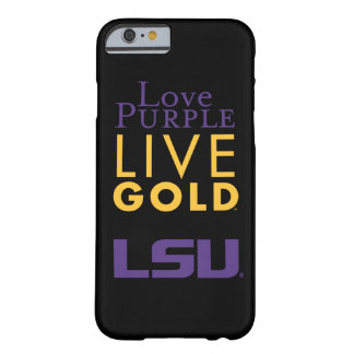 Logotipo vivo del oro de la púrpura del amor de funda barely there iPhone 6