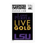 Logotipo vivo del oro de la púrpura del amor de LS
