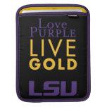 Logotipo vivo del oro de la púrpura del amor de LS Fundas Para iPads