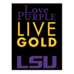 Logotipo vivo del oro de la púrpura del amor de postal