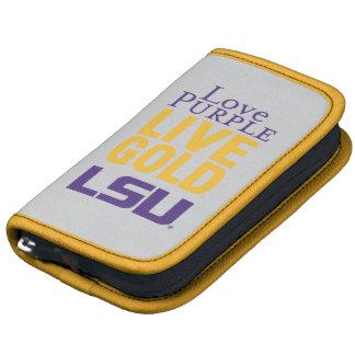 Logotipo vivo del oro LSU de la púrpura del amor Planificadores