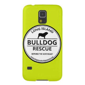 Logotipo w/Yellow del rescate del dogo de Long Carcasas Para Galaxy S5
