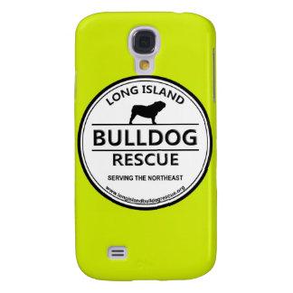 Logotipo w/Yellow del rescate del dogo de Long Isl Funda Para Galaxy S4