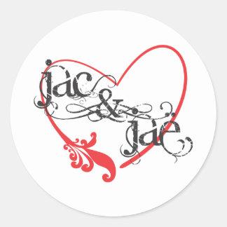 Logotipo white.ai de JacAndJae Pegatina Redonda