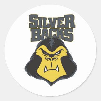 Logotipo WW del Silverback Etiquetas Redondas