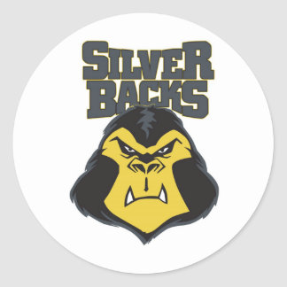 Logotipo WW del Silverback Pegatina Redonda