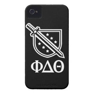 Logotipo y letras apilados - blanco 2 Case-Mate iPhone 4 cárcasas