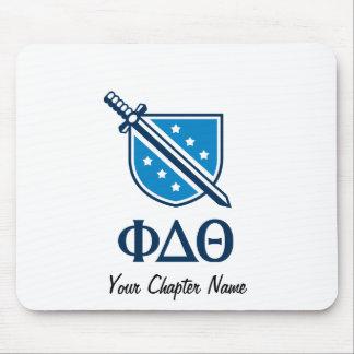 Logotipo y letras apilados - Blue1 Tapetes De Raton
