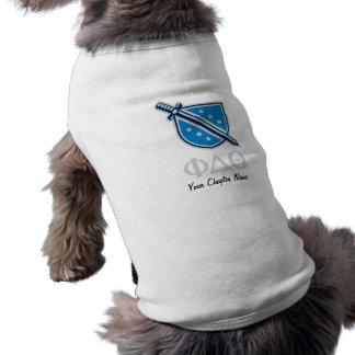 Logotipo y letras apilados - gris playera sin mangas para perro
