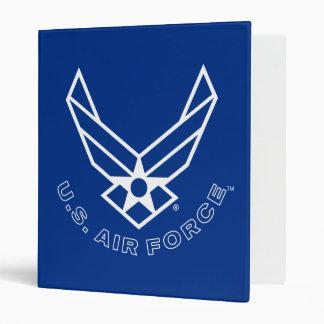 """Logotipo y nombre azules de la fuerza aérea con el carpeta 1"""""""