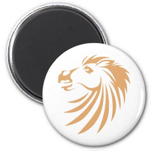 Logotipos de encargo frescos del caballo de los lo imán redondo 5 cm