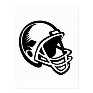 Logotipos del casco de fútbol americano tarjeta postal