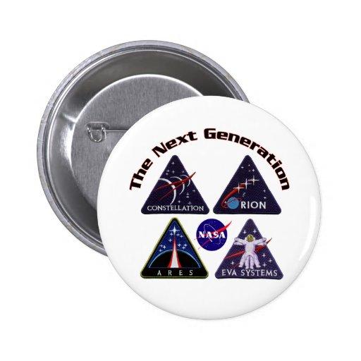 Logotipos del proyecto de la NASA Pin Redondo 5 Cm