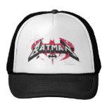Logotipos rojos y negros de Batman Gorras