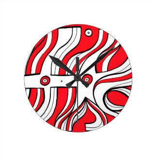 Logre victorioso estupendo discreto reloj redondo mediano