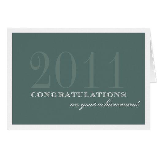 Logro con clase de la enhorabuena del verde de la  felicitacion