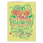 Logro significativo del Graduado-UNo de la enhorab Tarjetas