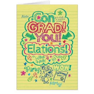 Logro significativo del Graduado-UNo de la Tarjeta De Felicitación