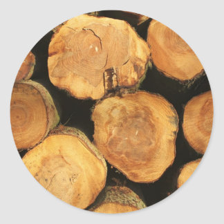Logs Classic Round Sticker