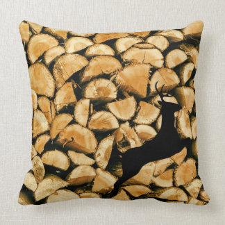 Logs Deer Cushion