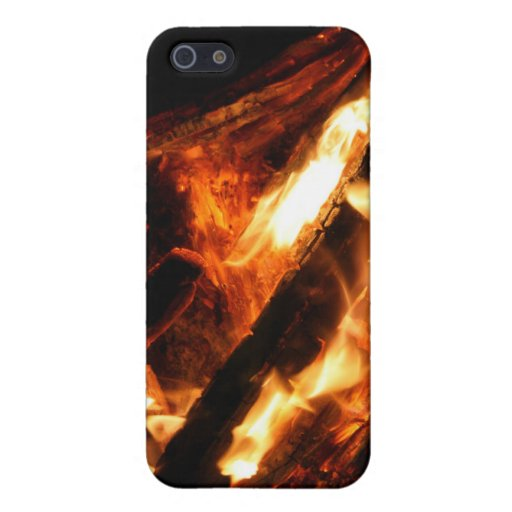 logs in flames photograph iPhone 5 cover