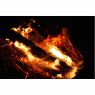 logs in flames photograph standing photo sculpture