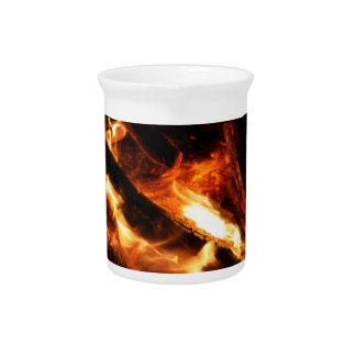 logs in flames photograph pitchers