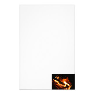 logs in flames photograph customized stationery