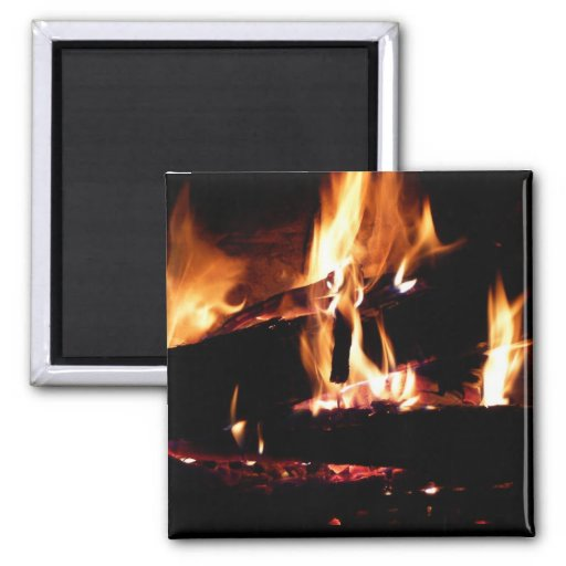 Logs in the Fireplace Magnet
