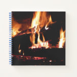 Logs in the Fireplace Notebook