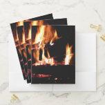 Logs in the Fireplace Pocket Folder