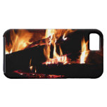 Logs in the Fireplace Warm Fire Photography iPhone SE/5/5s Case