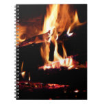 Logs in the Fireplace Warm Fire Photography Notebook
